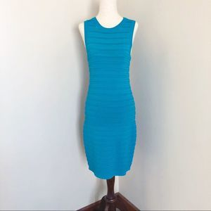 Michael Kors | sleeveless bandage dress teal small